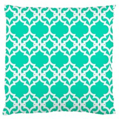 Lattice Stars In Teal Large Cushion Case (single Sided)