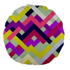 Pink & Yellow No  1 18  Premium Round Cushion