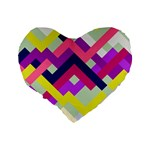 Pink & Yellow No. 1 16  Premium Heart Shape Cushion  Back