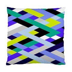 Smart Diagonals In Lime Cushion Case (single Sided)