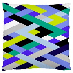 Smart Diagonals In Lime Large Cushion Case (single Sided)