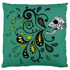 Skull Scream Large Cushion Case (single Sided)