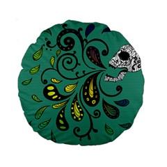 Skull Scream 15  Premium Round Cushion