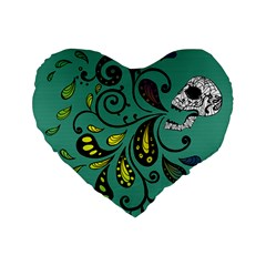Skull Scream 16  Premium Heart Shape Cushion