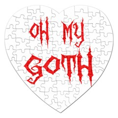 Oh My Goth Jigsaw Puzzle (Heart)