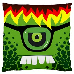 Green Monster Large Cushion Case (single Sided)