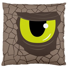 Monster Eye Large Cushion Case (two Sided)