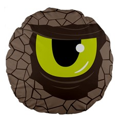 Monster Eye 18  Premium Round Cushion