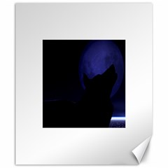 Howling Wolf Canvas 20  X 24  (unframed)