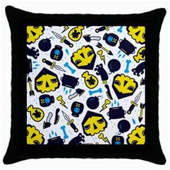 Assassins Pattern Black Throw Pillow Case