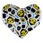 Assassins Pattern 19  Premium Heart Shape Cushion Front