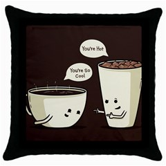 Coffee Love Black Throw Pillow Case