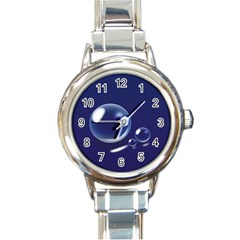 Bubbles 7 Round Italian Charm Watch