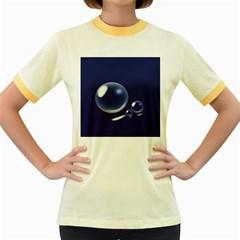 Bubbles 7 Women s Ringer T-shirt (Colored)