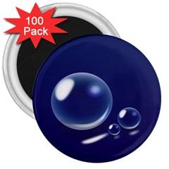 Bubbles 7 3  Button Magnet (100 pack)