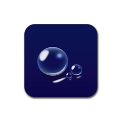 Bubbles 7 Drink Coaster (Square)