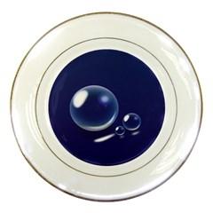 Bubbles 7 Porcelain Display Plate