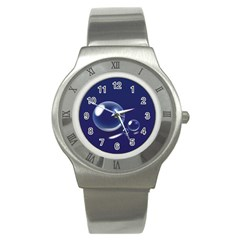 Bubbles 7 Stainless Steel Watch (Slim)