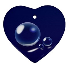 Bubbles 7 Heart Ornament (Two Sides)