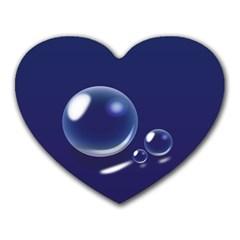 Bubbles 7 Mouse Pad (heart)