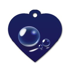Bubbles 7 Dog Tag Heart (One Sided)