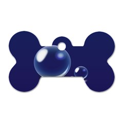 Bubbles 7 Dog Tag Bone (One Sided)