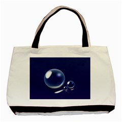 Bubbles 7 Twin-sided Black Tote Bag