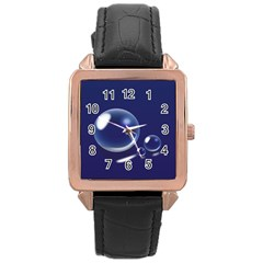Bubbles 7 Rose Gold Leather Watch