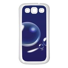 Bubbles 7 Samsung Galaxy S3 Back Case (White)