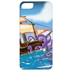 Pirate Ship Attacked By Giant Squid cartoon Apple iPhone 5 Classic Hardshell Case