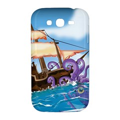 Pirate Ship Attacked By Giant Squid cartoon Samsung Galaxy Grand DUOS I9082 Hardshell Case