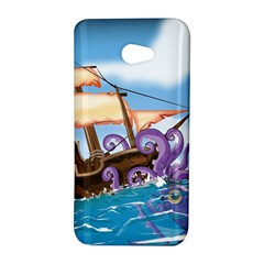 Pirate Ship Attacked By Giant Squid cartoon HTC Butterfly S Hardshell Case