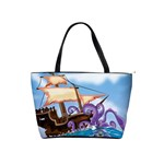 PiratePirate Ship Attacked By Giant Squid  Large Shoulder Bag Front