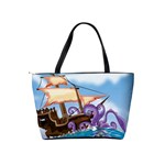 PiratePirate Ship Attacked By Giant Squid  Large Shoulder Bag Back