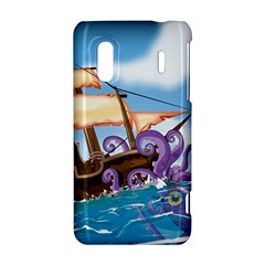 PiratePirate Ship Attacked By Giant Squid  HTC Evo Design 4G/ Hero S Hardshell Case