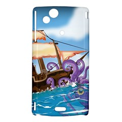 PiratePirate Ship Attacked By Giant Squid  Sony Xperia Arc Hardshell Case