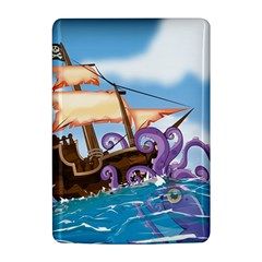 PiratePirate Ship Attacked By Giant Squid  Kindle 4 Hardshell Case