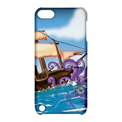 PiratePirate Ship Attacked By Giant Squid  Apple iPod Touch 5 Hardshell Case with Stand