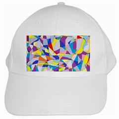 Fractured Facade White Baseball Cap