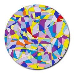 Fractured Facade 8  Mouse Pad (Round)