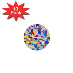 Fractured Facade 1  Mini Button (10 Pack)