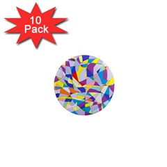 Fractured Facade 1  Mini Button Magnet (10 pack)