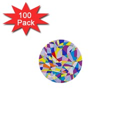 Fractured Facade 1  Mini Button (100 pack)