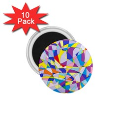 Fractured Facade 1.75  Button Magnet (10 pack)