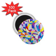 Fractured Facade 1 75  Button Magnet (100 Pack)