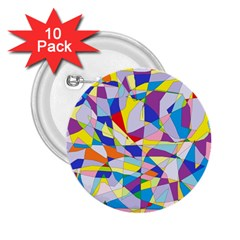Fractured Facade 2 25  Button (10 Pack)