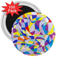 Fractured Facade 3  Button Magnet (100 Pack)