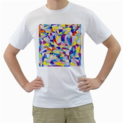 Fractured Facade Men s Two-sided T-shirt (White)