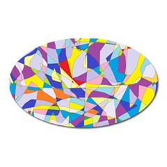 Fractured Facade Magnet (Oval)