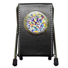 Fractured Facade Stationery Holder Clock